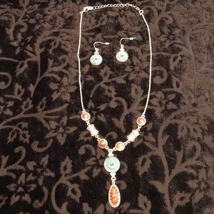 Necklace and earring set.